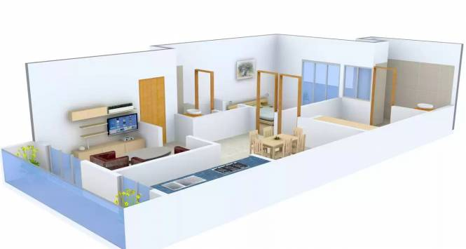 Relpro Alfa City (2BHK+2T (1,156 sq ft) Apartment 1156 sq ft)