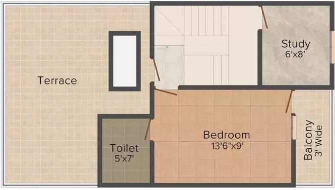 Jain Apartment 33 (2BHK+2T (1,080 sq ft) Villa 1080 sq ft)