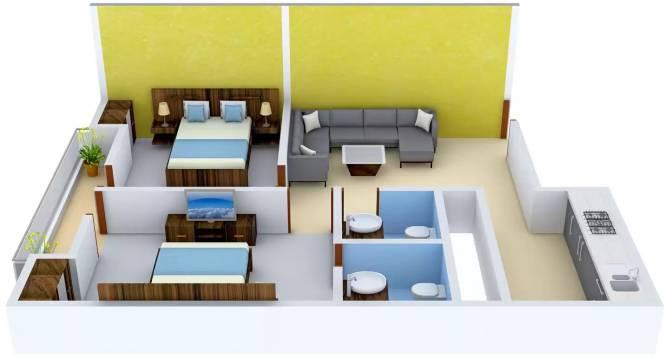Shree Balaji Hanumanta Apartment (2BHK+2T (1,000 sq ft) Apartment 1000 sq ft)