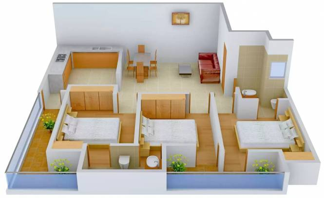 8 Majestic Home (3BHK+3T (900 sq ft) Apartment 900 sq ft)