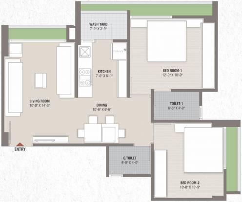 Smarak Sthapana Parisar (2BHK+2T (562.31 sq ft) Apartment 562.31 sq ft)