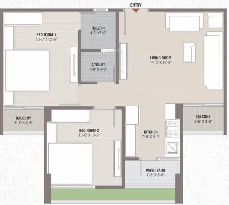 Smarak Sthapana Parisar (2BHK+2T (545.19 sq ft) Apartment 545.19 sq ft)