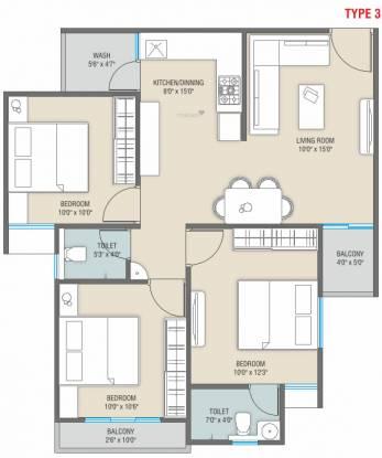 Shreeji Auro Harmony (3BHK+3T (694.49 sq ft) Apartment 694.49 sq ft)