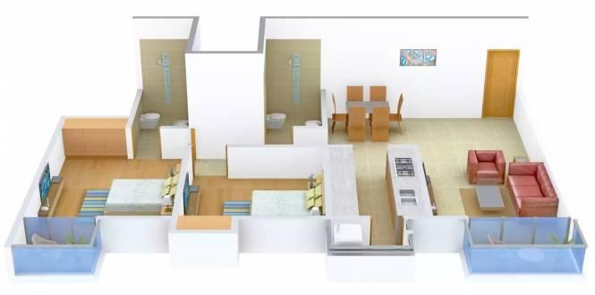 Jeet Home Rivera (2BHK+2T (1,230 sq ft) Apartment 1230 sq ft)