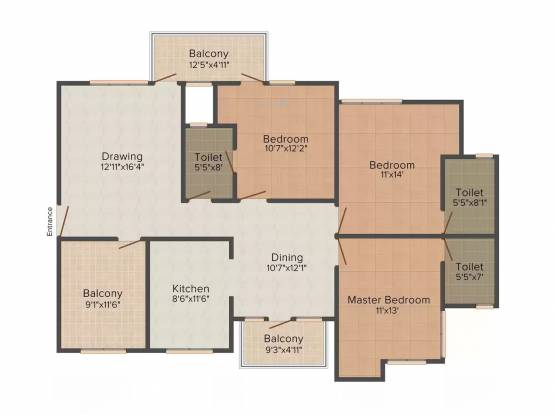 GR B Block 1049 (3BHK+3T (1,800 sq ft) Apartment 1800 sq ft)