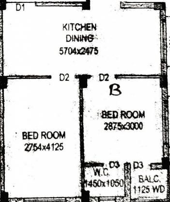 Venesis Shibani Apartment 5 (2BHK+2T (850 sq ft) Apartment 850 sq ft)