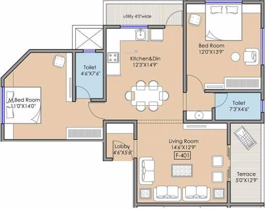 Atharva Icon (2BHK+2T (1,180.66 sq ft) Apartment 1180.66 sq ft)
