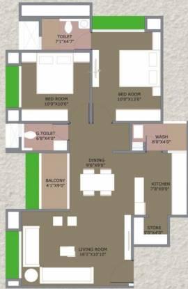 Shashwat Heights LLP Shashwat Heights (2BHK+2T (703.31 sq ft) Apartment 703.31 sq ft)