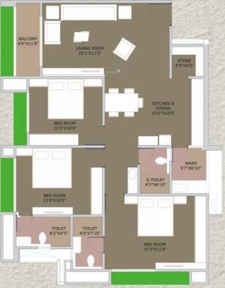 Shashwat Heights LLP Shashwat Heights (3BHK+3T (983.07 sq ft) Apartment 983.07 sq ft)