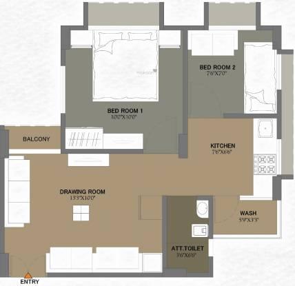 Ripam Residency (2BHK+1T (380.29 sq ft) Apartment 380.29 sq ft)
