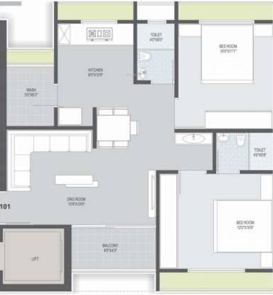 Path Kesar Hill (2BHK+2T (597.07 sq ft) Apartment 597.07 sq ft)