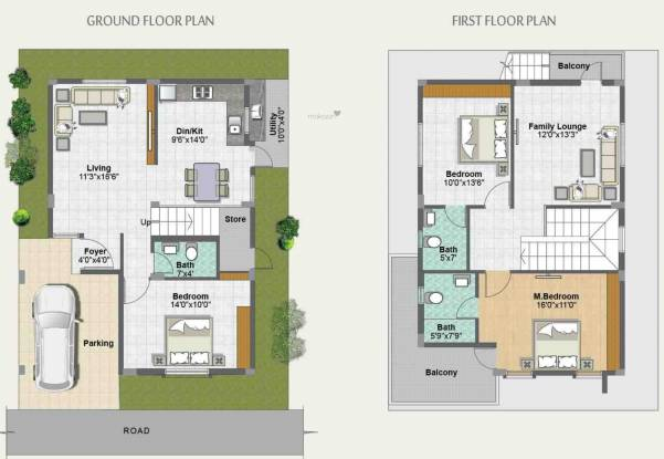 Metropolis Fair Oaks III (3BHK+3T (1,738 sq ft) Villa 1738 sq ft)