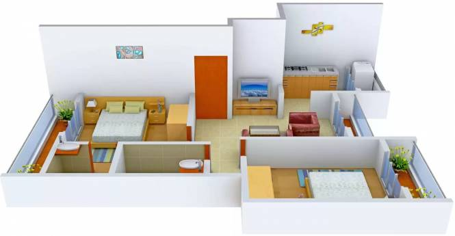 Rangvel Bhramraj Residency (2BHK+2T (920 sq ft) Apartment 920 sq ft)