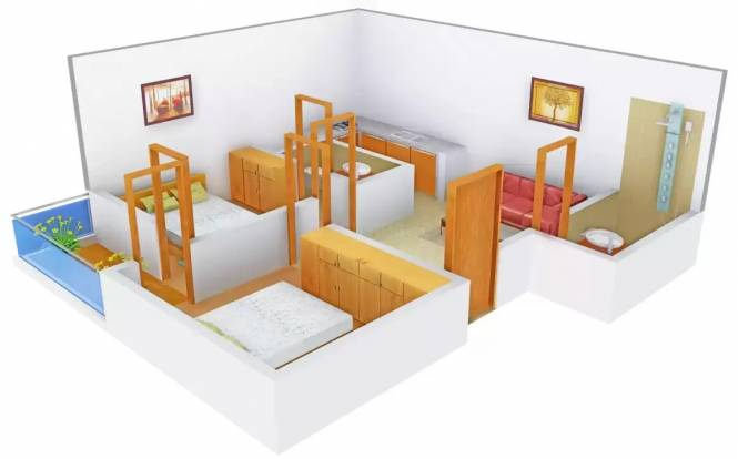 Aditya Apartment 1 (2BHK+2T (540 sq ft) Apartment 540 sq ft)