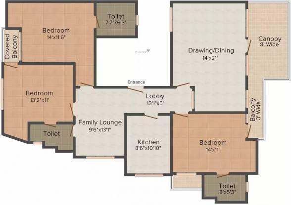 Orbit Floors CR Park (3BHK+3T (1,800 sq ft) Apartment 1800 sq ft)