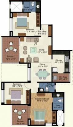 Kolte Patil Green Olive (3BHK+3T (1,378 sq ft) Apartment 1378 sq ft)