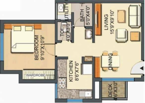 Lodha Casa Royale (1BHK+1T (585 sq ft) Apartment 585 sq ft)