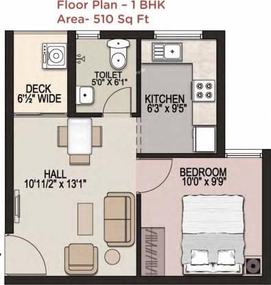 Mantri Navaratna (1BHK+1T (510 sq ft) Apartment 510 sq ft)
