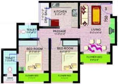 Ravi Gaurav Valley (2BHK+2T (800 sq ft) Apartment 800 sq ft)