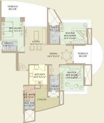 Orbit Enclave (3BHK+4T (2,300 sq ft)   Servant Room Apartment 2300 sq ft)
