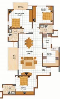 Prestige South Ridge (3BHK+3T (1,886 sq ft) Apartment 1886 sq ft)