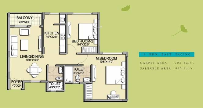 Pride Horizon (2BHK+2T (880 sq ft) Apartment 880 sq ft)