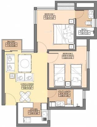 Jaypee Aman (2BHK+2T (850 sq ft) Apartment 850 sq ft)
