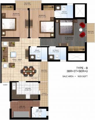 Paras Seasons (3BHK+3T (1,625 sq ft) Apartment 1625 sq ft)