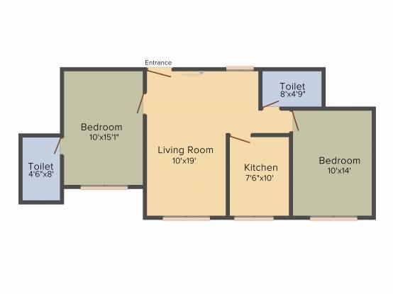 Raheja Interface Heights (2BHK+2T (1,130 sq ft) Apartment 1130 sq ft)