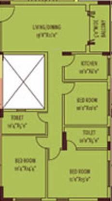 Siddha Silver Pines (3BHK+3T (1,365 sq ft) Apartment 1365 sq ft)