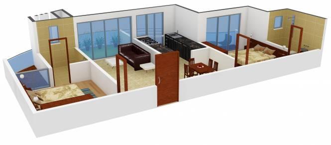 Team Bellagio (2BHK+2T (1,213 sq ft) Apartment 1213 sq ft)