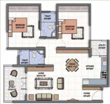 Century Marvel (2BHK+2T (1,070 sq ft) Apartment 1070 sq ft)