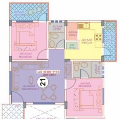 Nisarga Keerthana (2BHK+2T (909 sq ft) Apartment 909 sq ft)