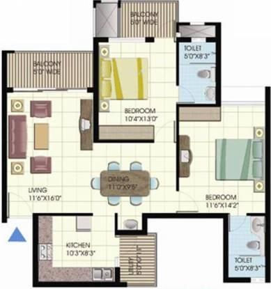 Emmanuel Meadows (2BHK+2T (1,065 sq ft) Apartment 1065 sq ft)