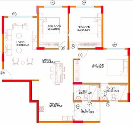 Concorde Midway City (3BHK+2T (1,402 sq ft) Apartment 1402 sq ft)