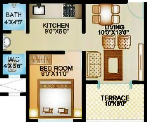 ARK Alfa Homes (1BHK+1T (512 sq ft) Apartment 512 sq ft)