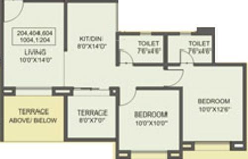 Sree Aishwaryam (2BHK+2T (867 sq ft) Apartment 867 sq ft)