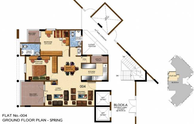 Windsor Four Seasons (2BHK+2T (1,233 sq ft) Apartment 1233 sq ft)