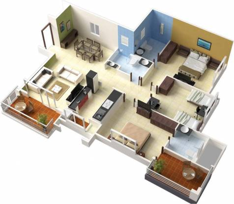 Pride Aloma County (3BHK+3T (1,590 sq ft) Apartment 1590 sq ft)