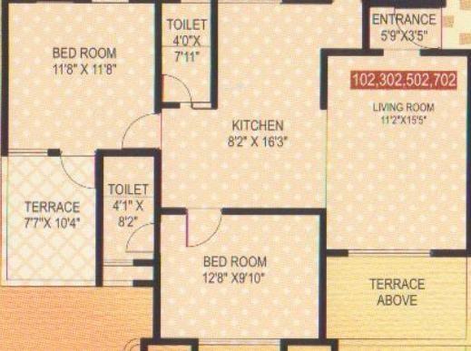 Siddhivinayak Shubhashree Residential (2BHK+2T (950 sq ft) Apartment 950 sq ft)