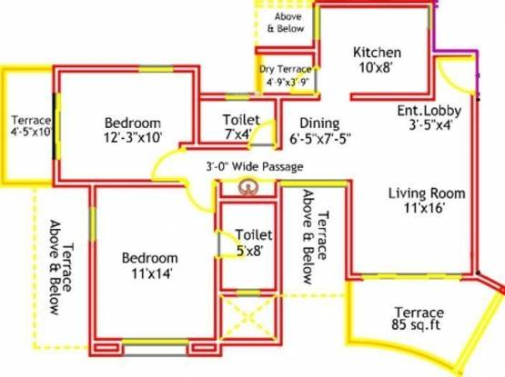 Nandan Inspera (2BHK+2T (1,079 sq ft) Apartment 1079 sq ft)