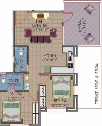 Khivansara Shubham Terraces (2BHK+2T (964 sq ft) Apartment 964 sq ft)
