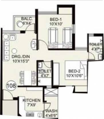 Arihant Frangipani (2BHK+2T (765 sq ft) Apartment 765 sq ft)