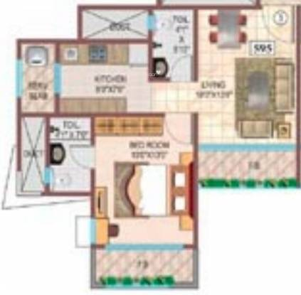 Srishti Micro Srishti (1BHK+1T (595 sq ft) Apartment 595 sq ft)