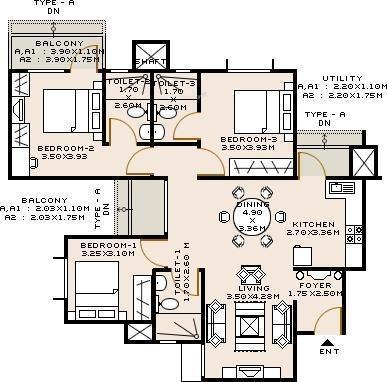 Sobha Iris (3BHK+3T (1,590 sq ft) Apartment 1590 sq ft)