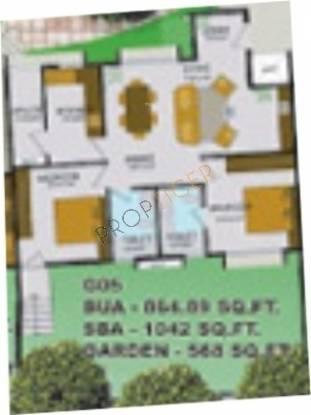 Confident Orion (2BHK+2T (1,042 sq ft) Apartment 1042 sq ft)