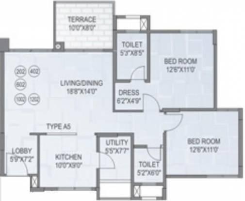 Amit Astonia Royale (2BHK+2T (1,133 sq ft) Apartment 1133 sq ft)