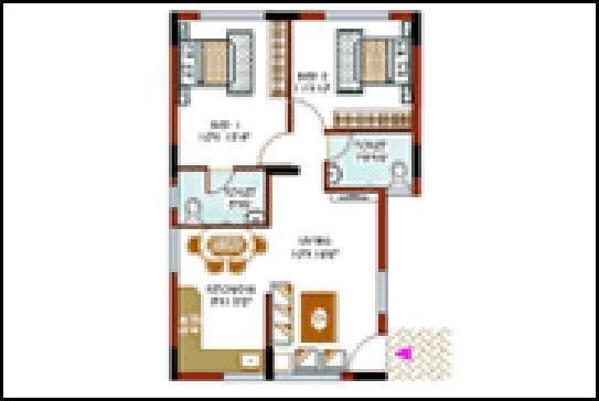 KMF Purab Manor (2BHK+2T (1,216 sq ft) Apartment 1216 sq ft)