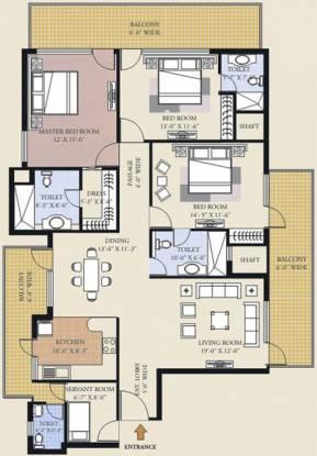 Purva Purva Panorama (3BHK+4T (2,190 sq ft) + Servant Room Apartment 2190 sq ft)