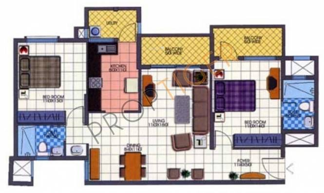 Bren Spencer (2BHK+2T (1,176 sq ft) Apartment 1176 sq ft)